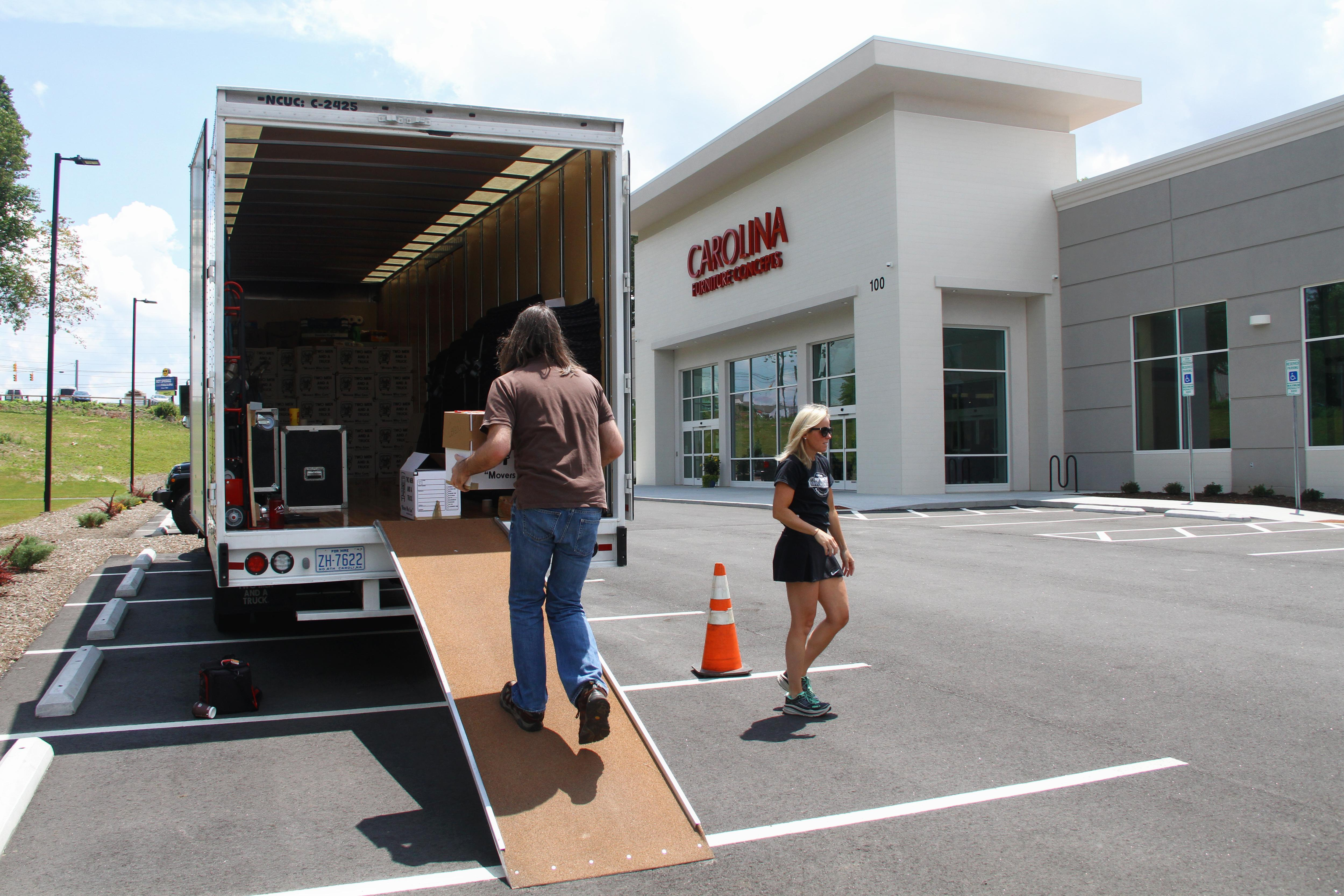 The scene at the Break the Hunger Food Drive on June 9, 2017. News 13 partnered with Carolina Furniture Concepts and Two Men & A Truck for Break the Hunger. This was the fifth year for the food drive, which helps prevent food insecurity for local children during the summer break. (Photo credit: WLOS Staff)