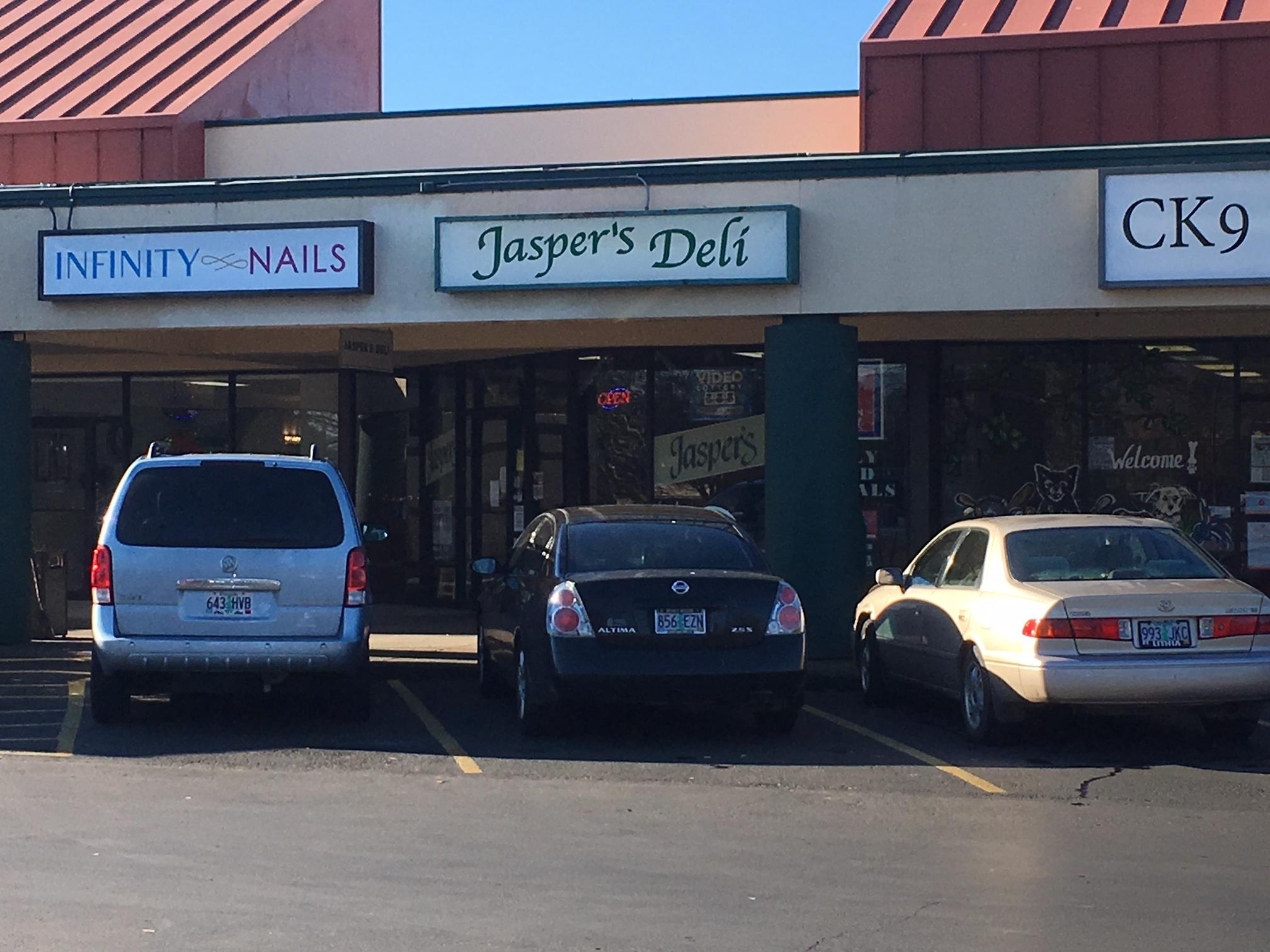 Eugene Police are investigating a robbery that occurred at Jasper's Deli on Green Acres Road, Dec. 7, 2017. (SBG)