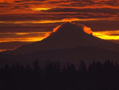 Photos Incredible Sunrise Over Mt Hood Friday Komo