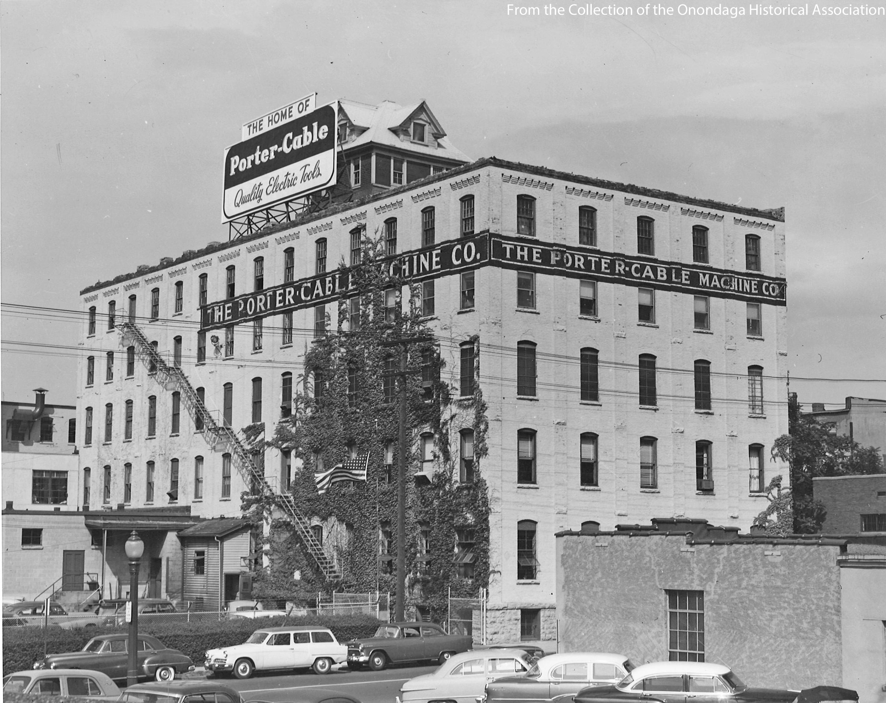 The Porter Cable Machine Company moved into the building in the first quarter of the 20th Century and remained until 1957 when Penfield moved in. (Onondaga Historical Association){&amp;nbsp;}<p></p>