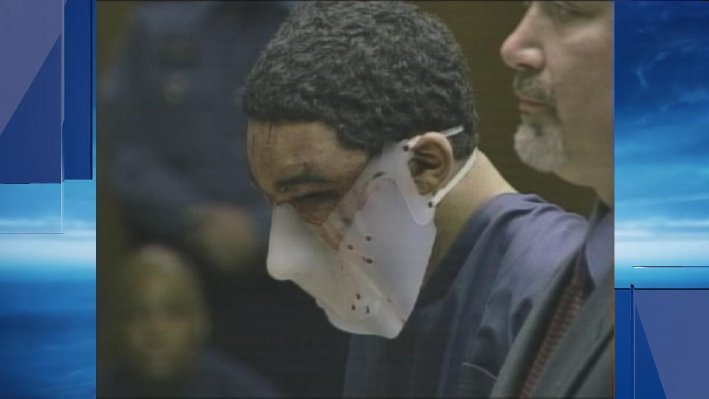 Esteban Carpio appeared for his initial court appearance wearing a mask. (WJAR)
