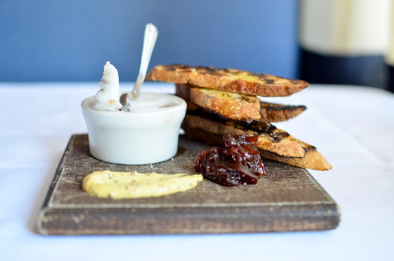 Chicken Liver Pate: grilled baguette, red onion marmalade, whole grain mustard / Image: Leah Zipperstein, Cincinnati Refined