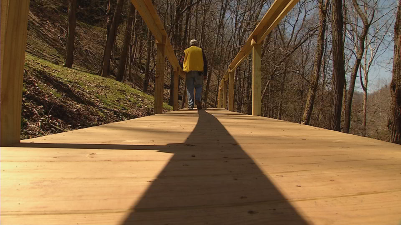 The new boardwalk is wider than the original and will be ADA accessible. (WCHS/WVAH)