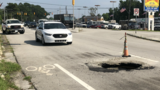 Sinkhole creates traffic issues in Havelock