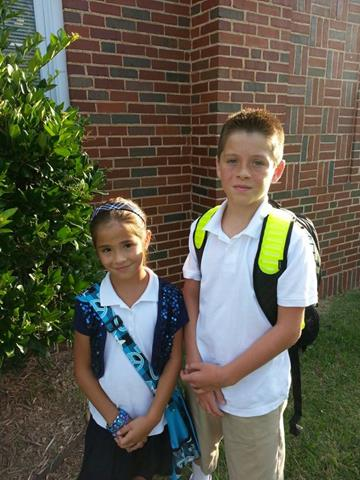 FOX 25 Facebook fan Shantel Yarbrough posted this picture of her kids heading off to Nichols Hills Elementary.
