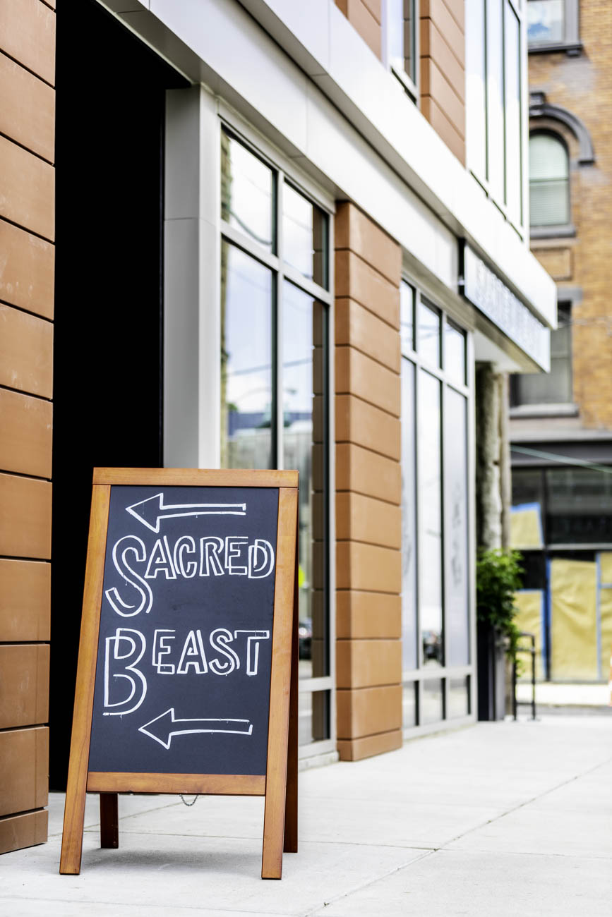 Sacred Beast serves simple food with a serious approach. At its core, it is a diner with burgers, fries, chicken, and other such menu items but with an upscale restaurant twist. It is located in Over-the-Rhine at 1437 Vine Street (45202). / Image: Amy Elisabeth Spasoff // Published: 5.31.18