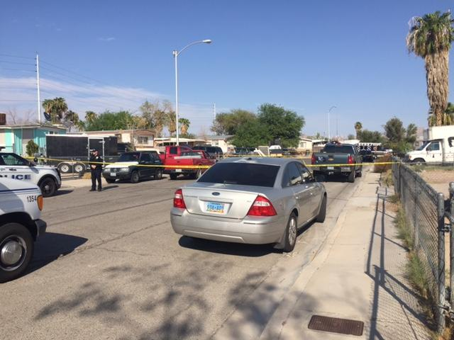 Police investigate a deadly shooting Wednesday, Sept. 6, 2017, on the 3200 block of Lillis Avenue in North Las Vegas. (Corwin Hall/KSNV)