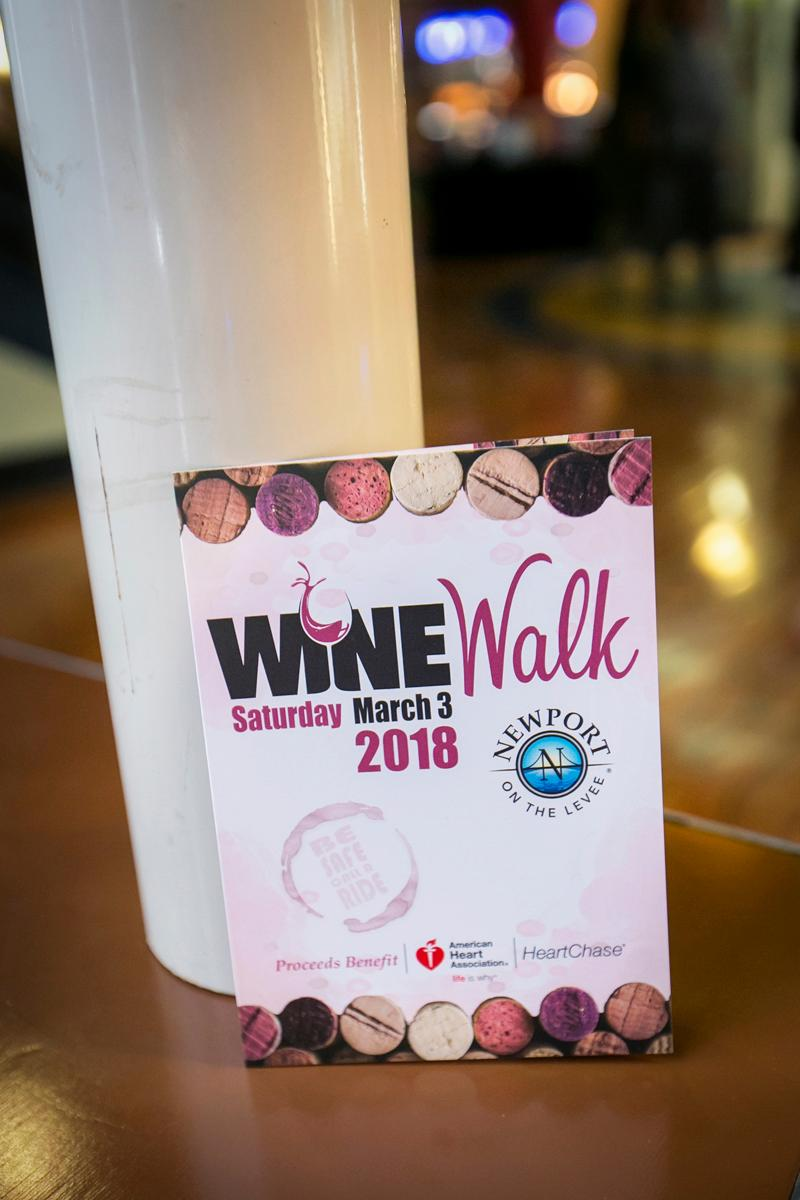 Each spring Newport hosts a Wine Walk on the Levee. This year's sold-out event took place on Saturday, March 3 and included 12 participating vendors. Proceeds from the Wine Walk benefit the American Heart Association. / Image: Mike Bresnen Photography // Published: 3.4.18