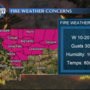 Fire weather concerns Wednesday