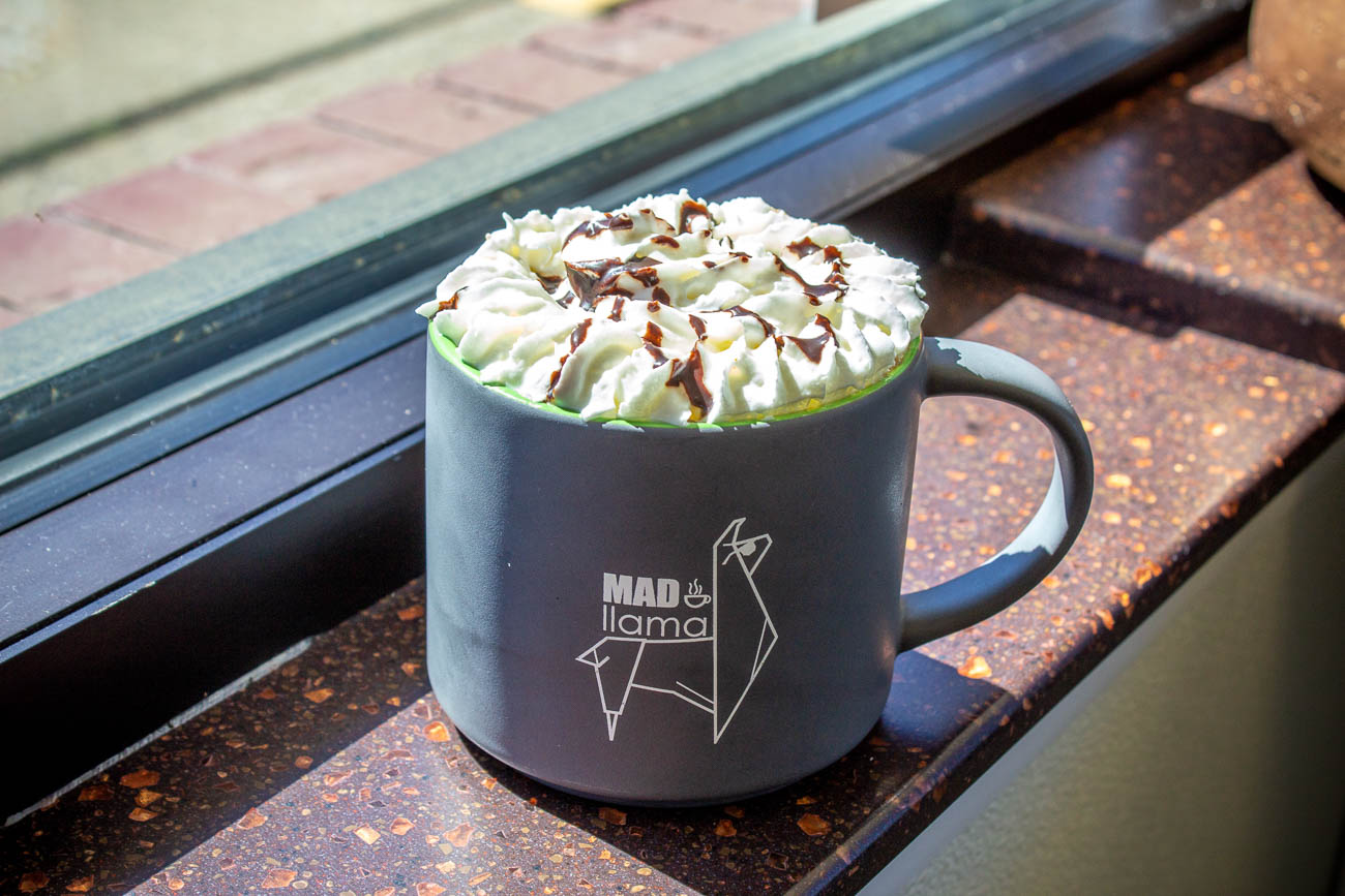 <p>A lot of their regulars visit so often that they buy a Mad Llama mug to leave at the shop with their name on it, reusing it the next time they stop in. Mad Llama is open Monday-Friday 6:30 AM-5 PM, Saturday 7:30 AM-4 PM, and Sunday 7:30 AM-3 PM. / Image: Katie Robinson, Cincinnati Refined // Published: 7.8.19</p>