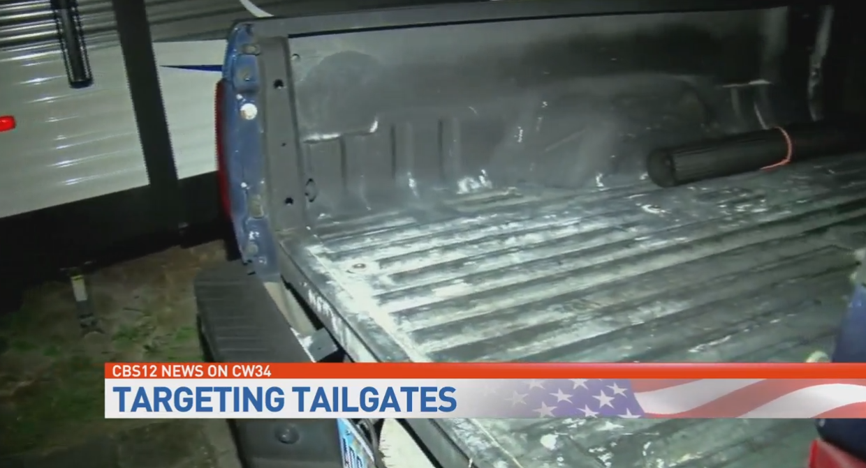 Rash of thefts of tailgates from pickup trucks. (WPEC)