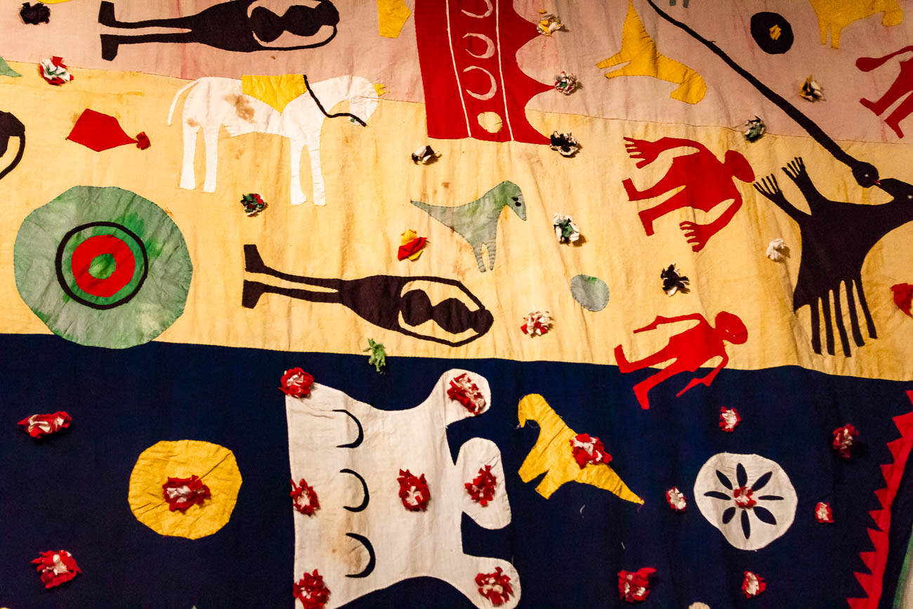 A 22-foot-long hand appliqued flag depicting the death of the Muslim warrior Sayyid Salar Mas'ud from 1896-1912{ }/ Image: Katie Robinson, Cincinnati Refined // Published: 10.22.18