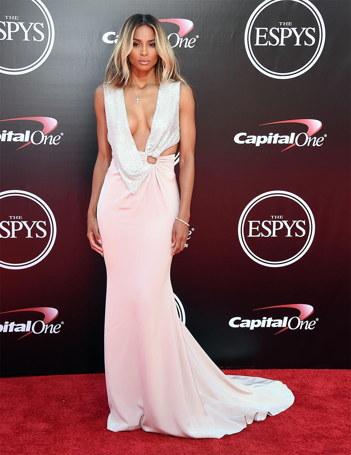 Ciara arrives at the ESPY Awards at the Microsoft Theater on Wednesday, July 13, 2016, in Los Angeles. (Photo by Jordan Strauss/Invision/AP)