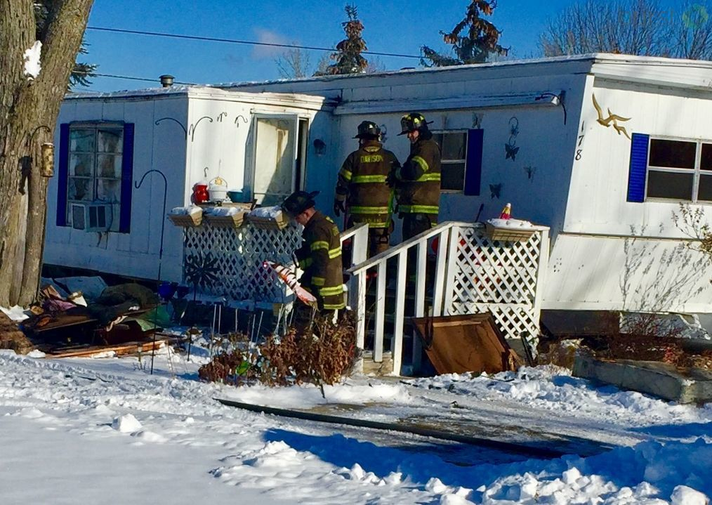 The fire started around 10 a.m. on Cherrywood Drive in Davison Township. (WEYI/WSMH)