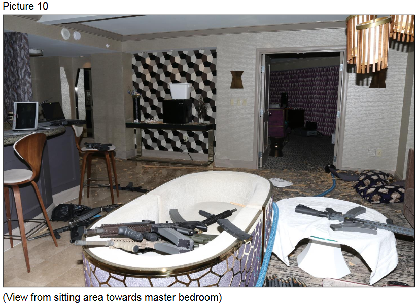 View from sitting area towards master bedroom (Courtesy LVMPD)