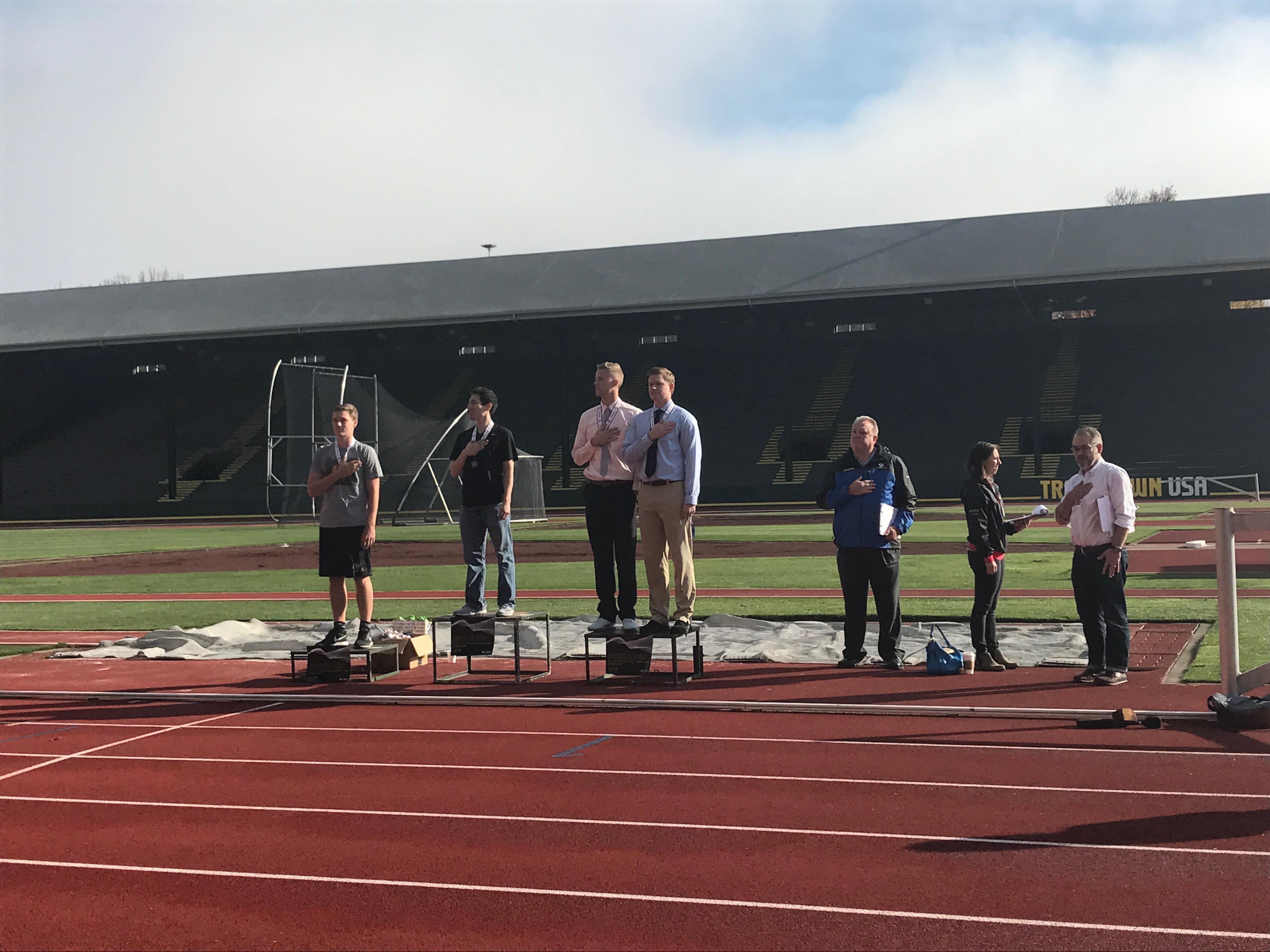 Top 3 winners for the Quack Track Pitch{&amp;nbsp;} on October 27th, 2017. at Hayward Field in Eugene, Ore.{&amp;nbsp;}{&amp;nbsp;}<p></p>