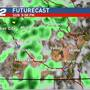 Widespread showers and a chance of afternoon thunderstorms in store for your Sunday