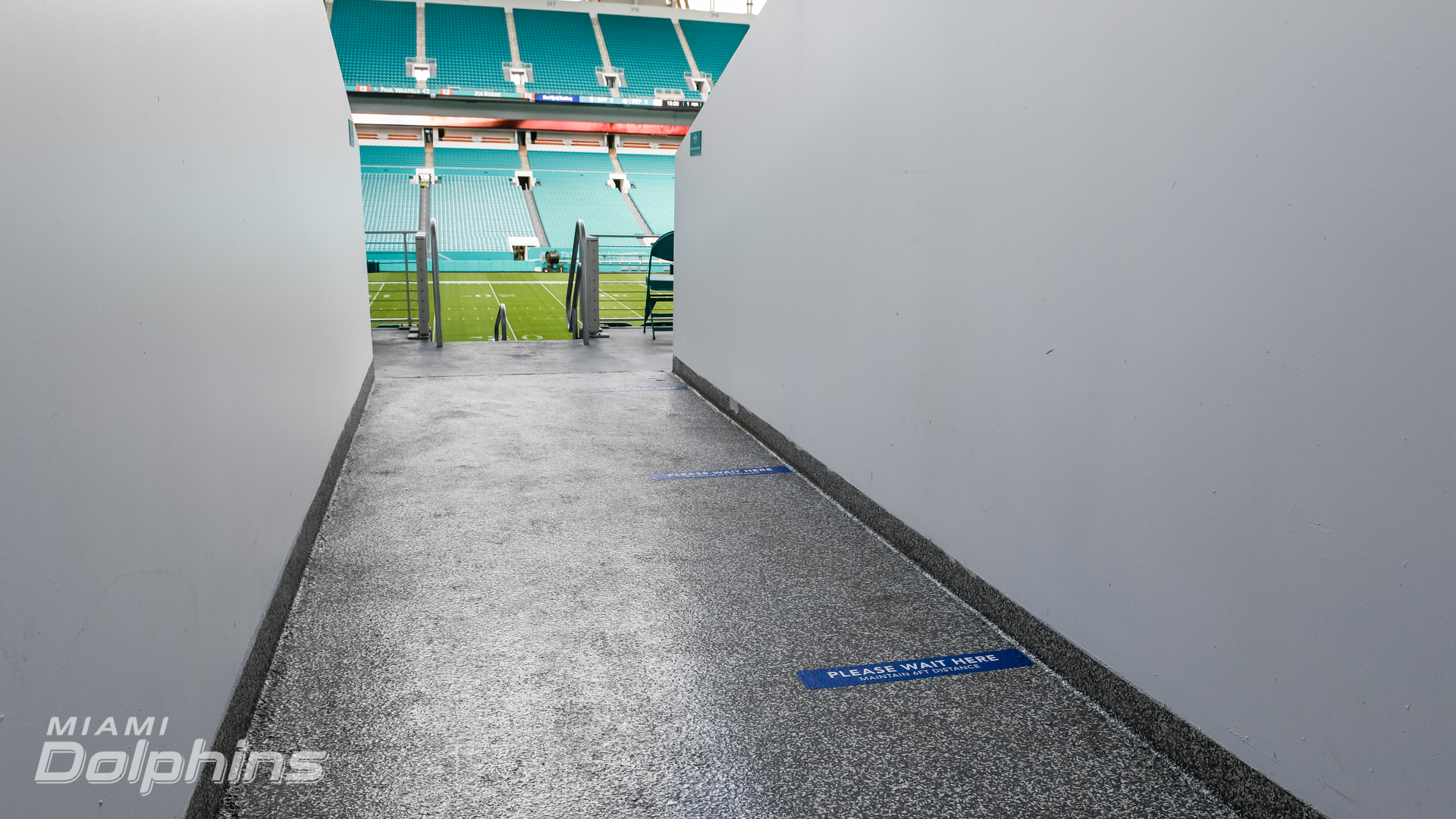 Socially-Distanced Markers at Hard Rock Stadium{ }(Miami Dolphins)