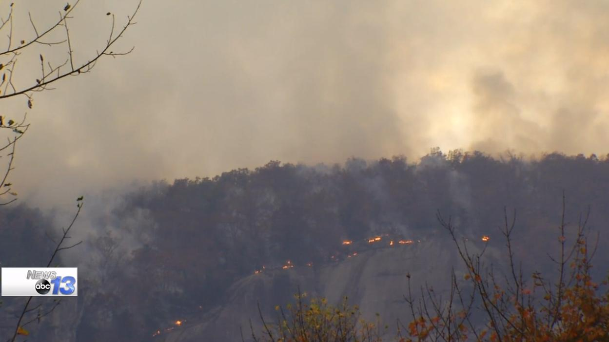 Emergency personnel went door-to-door asking residents in the Quail Ridge and Huntington Road areas of Lake Lure to evacuate.  (Photo credit: WLOS Staff)