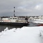 Ironton Ferry parked in Boyne City for the winter