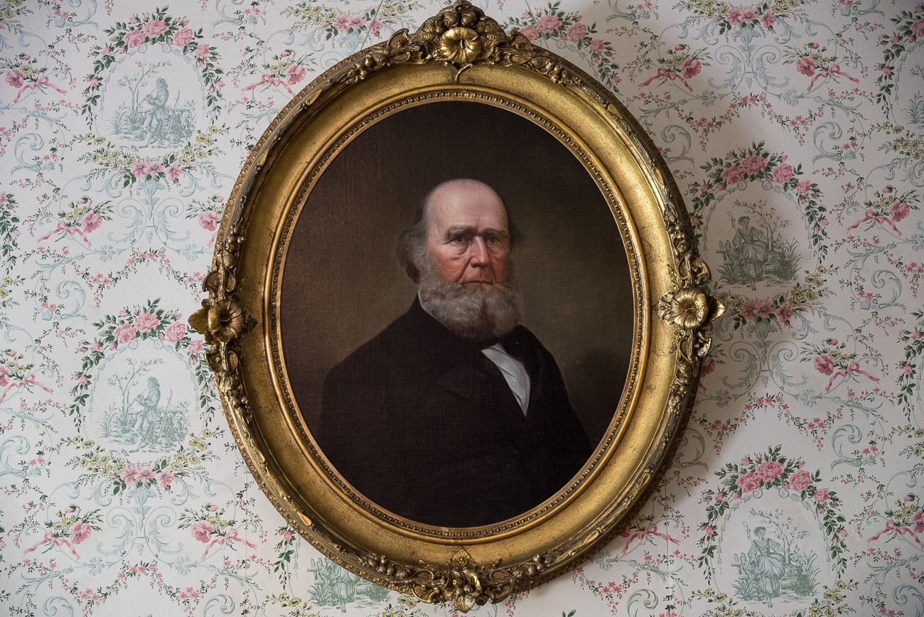 A painting of James Dinsmore hangs on the wall of the family living room. / Image: Phil Armstrong, Cincinnati Refined // Published: 6.15.18