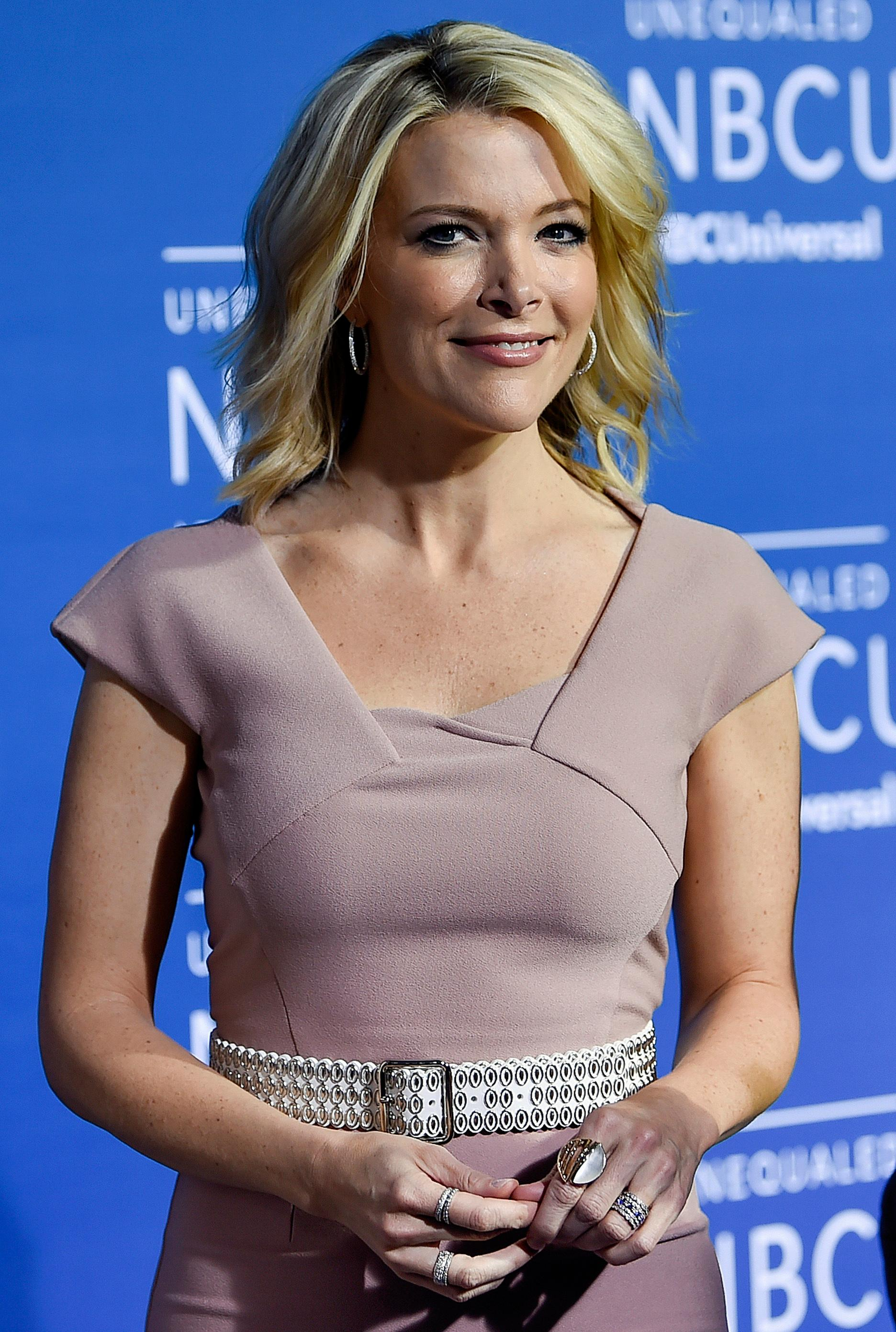 FILE - In this May 15, 2017, file photo, television journalist Megyn Kelly attends the NBCUniversal Network 2017 Upfront at Radio City Music Hall in New York. The families of some Sandy Hook shooting victims are angered by a planned NBC television interview by Kelly scheduled to air Sunday, June 18, 2017, with Alex Jones, who has claimed the 2012 massacre in Newtown, Conn., never happened. (Photo by Evan Agostini/Invision/AP, File)