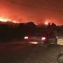 Ash falls like snow as celebrities flee California community