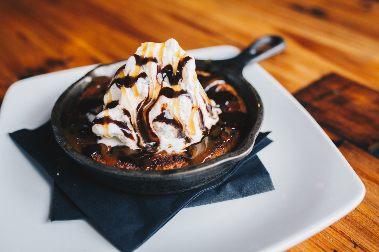 Skillet cookie and ice cream / Image: Catherine Viox // Published: 10.17.18