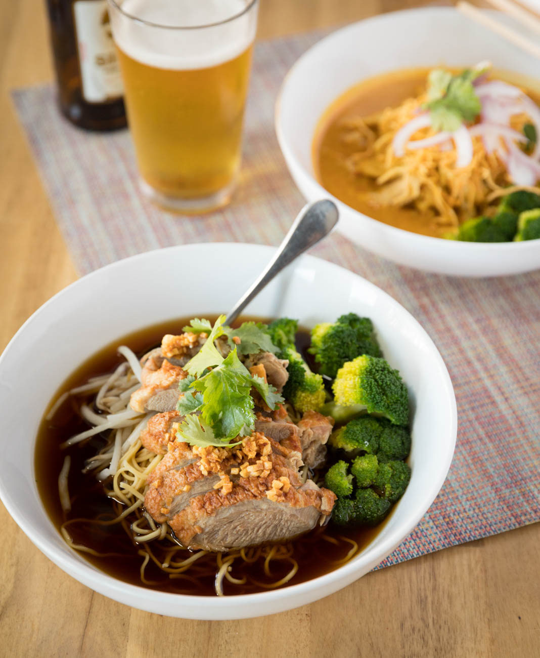 Duck noodle soup: egg noodle and duck in delicious house-made broth with broccoli & bean sprouts / Image: Marlene Rounds // Published: 1.17.19