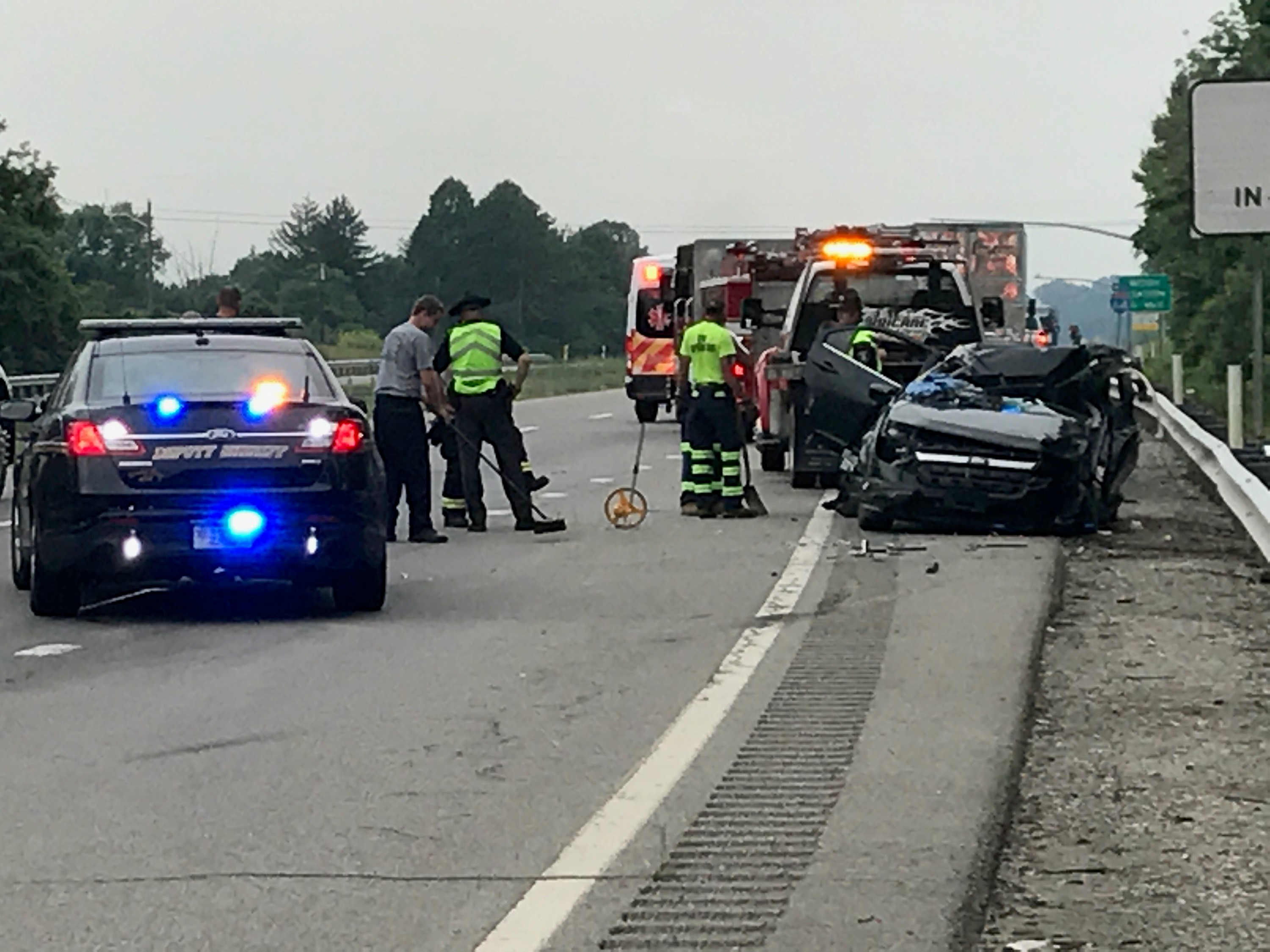 Putnam County deputies say the driver of a car that rear-ended a tractor-trailer near the the Teays Valley entrance ramp has died. (WCHS/WVAH)