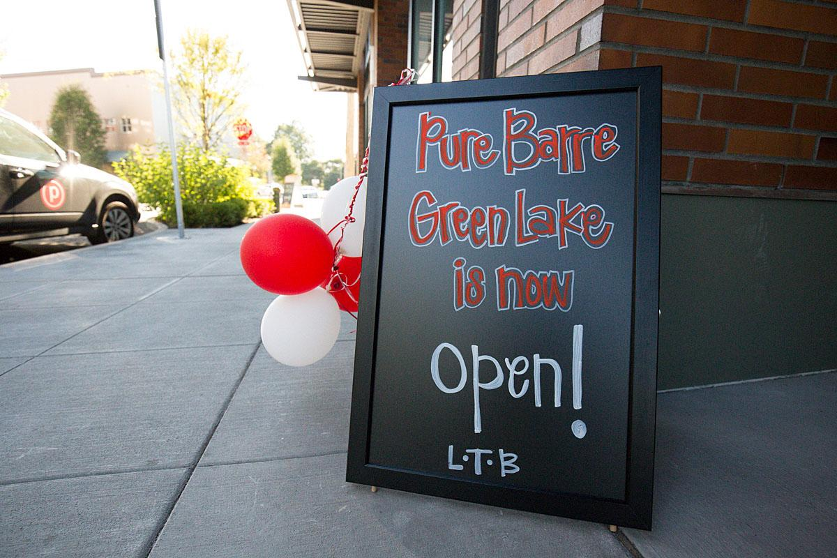 Pure Barre opens a new location in Greenlake Village. They offer free parking with a purchase from neighboring PCC Natural Market and is a minutes walk away from the lake. (Image: Joshua Lewis)