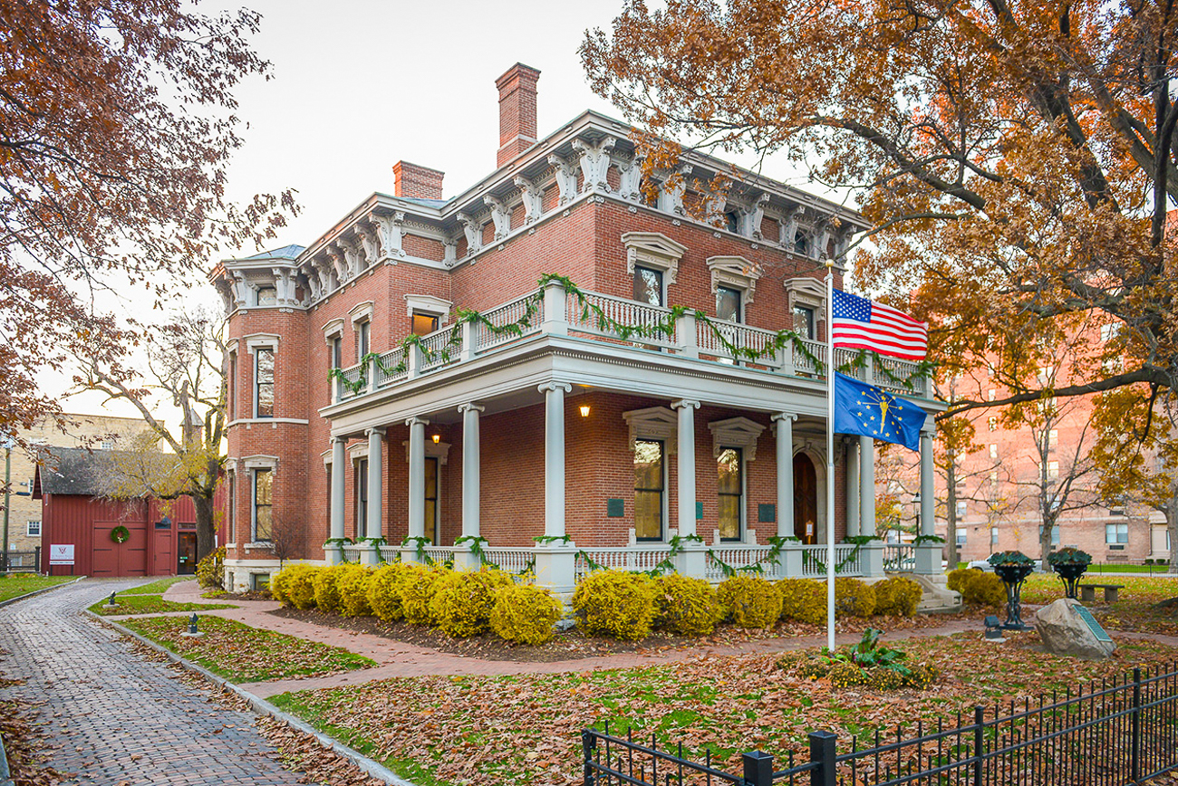 "HOURS: Visitors may tour the home of Indiana's only president Monday through Saturday between 10 and 3:30 PM, and on Sundays from 12 to 3:30 PM. Tours cost $12 for adults and $7 for children. Find more about the home on its{&nbsp;}<a  href=""https://bhpsite.org/"" target=""_blank"" title=""https://bhpsite.org/"">website</a>. / Image: Visit Indy // Published: 10.23.20<br>"