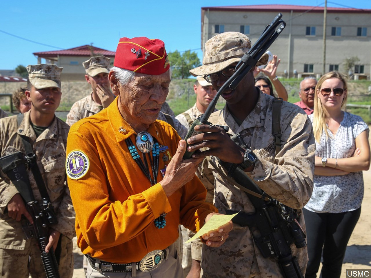 Roy Hawthorne, Code Talker (Photo: USMC)