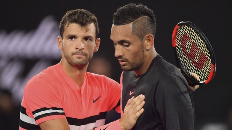 Grigor Dimitrov and Nick Kyrgios, good friends off the court, made for compelling opponents on it. (AP)
