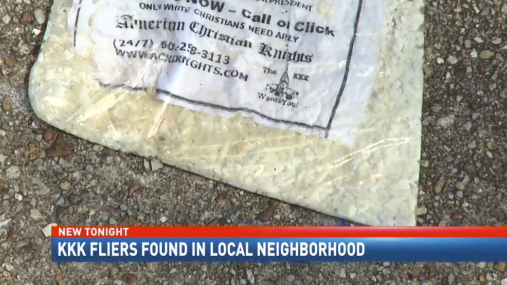 Residents Upset After KKK Fliers Found In West Mobile Neighborhood - Kkk us map howell