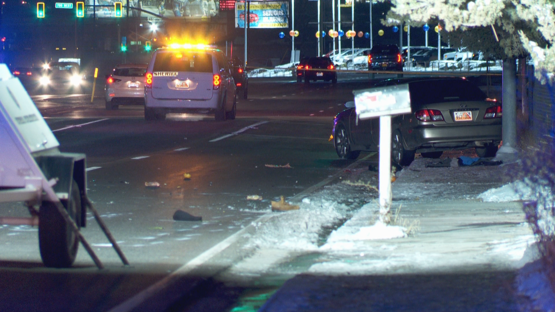 Original scene of the fatal crash. (Photo: KUTV)
