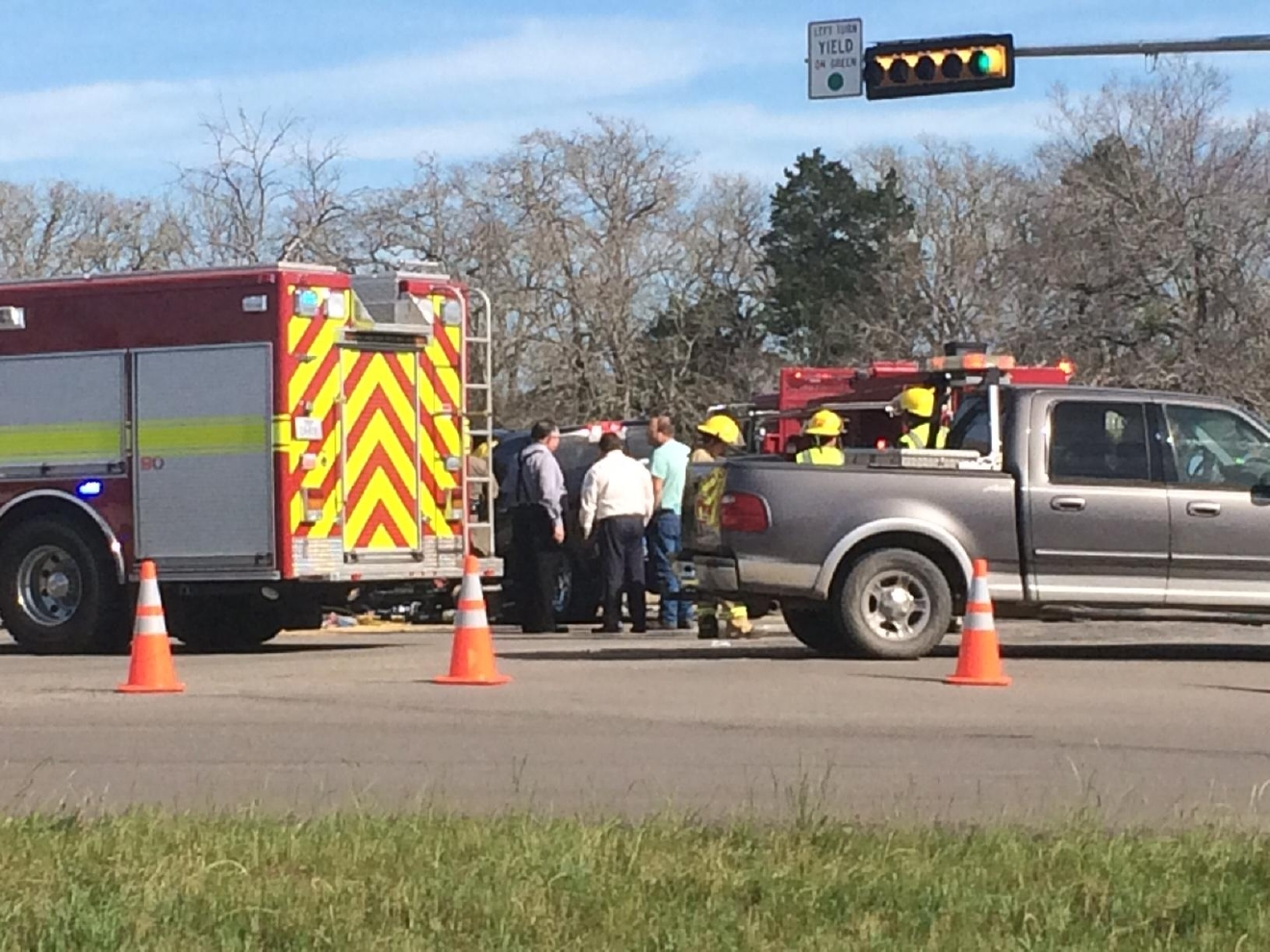 Four people are dead after a car crash in Bastrop County. (KEYE TV)