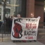 Activists chain themselves inside Providence bank
