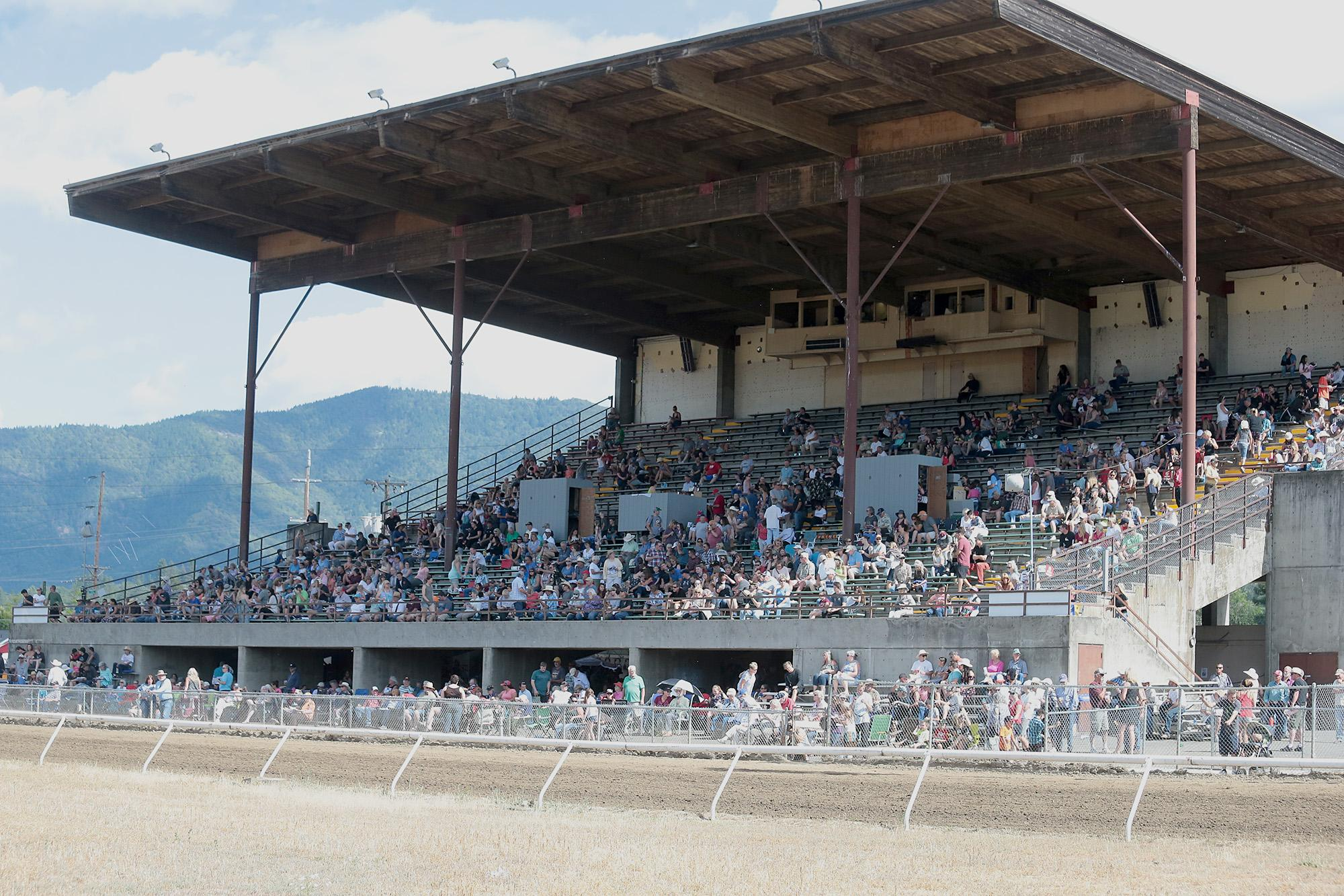 Horse Racing at Grants Pass Downs on Sunday, June 17, 2018.[PHOTO BY:  LARRY STAUTH JR]