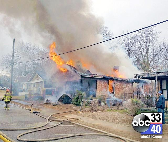 Birmingham firefighters battled a house fire in the North Titusville community, February 5, 2014.
