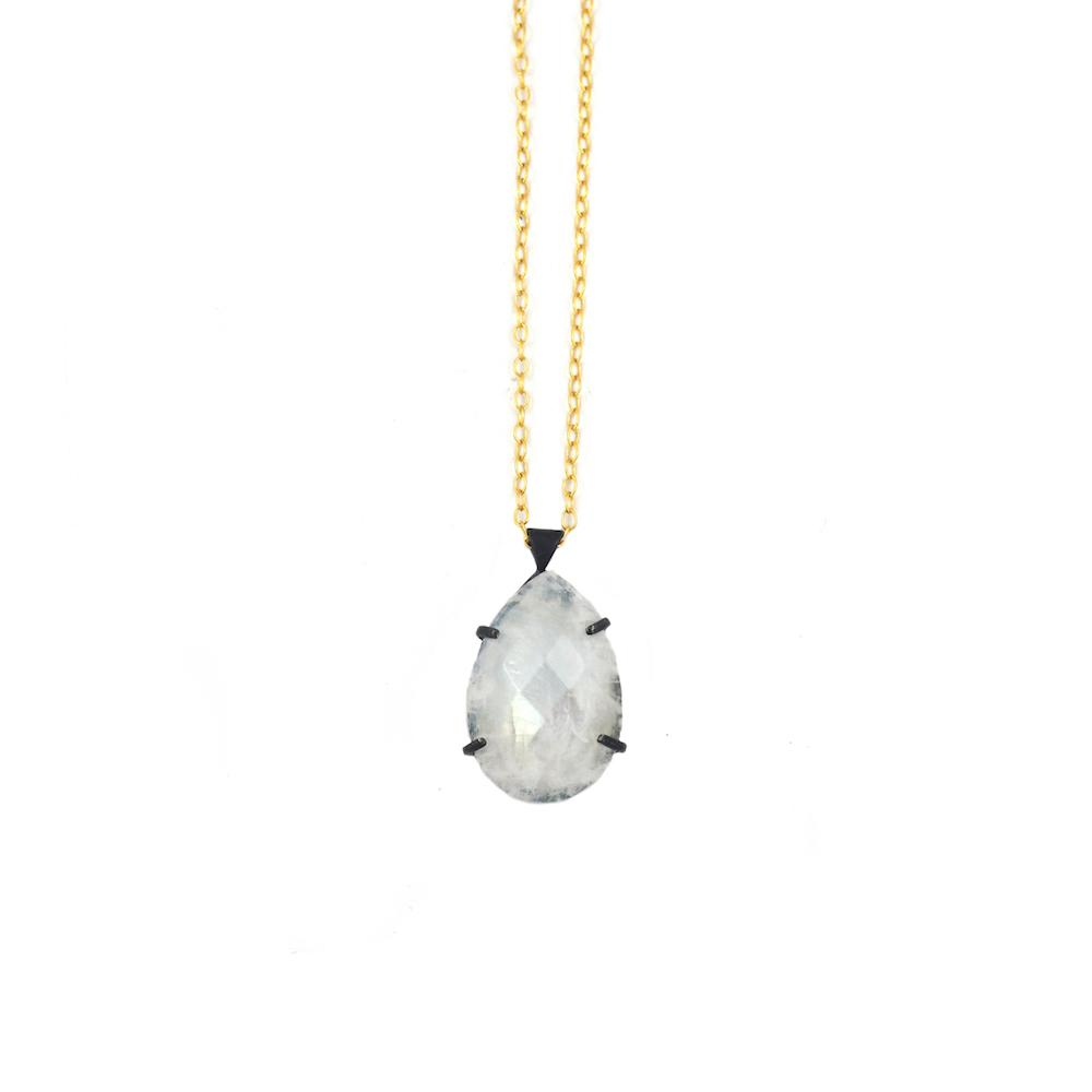 Mallory Shelter Jewelry Moonstone Pear Pendant Necklace // Price: $320 // Purchase at malloryshelterjewelry.com // (Photo: Mallory Shelter Jewelry)