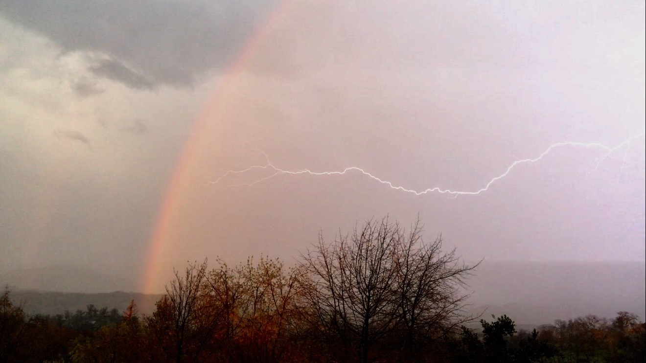 Rainbow and lighting by Angie Berry 2-3-17