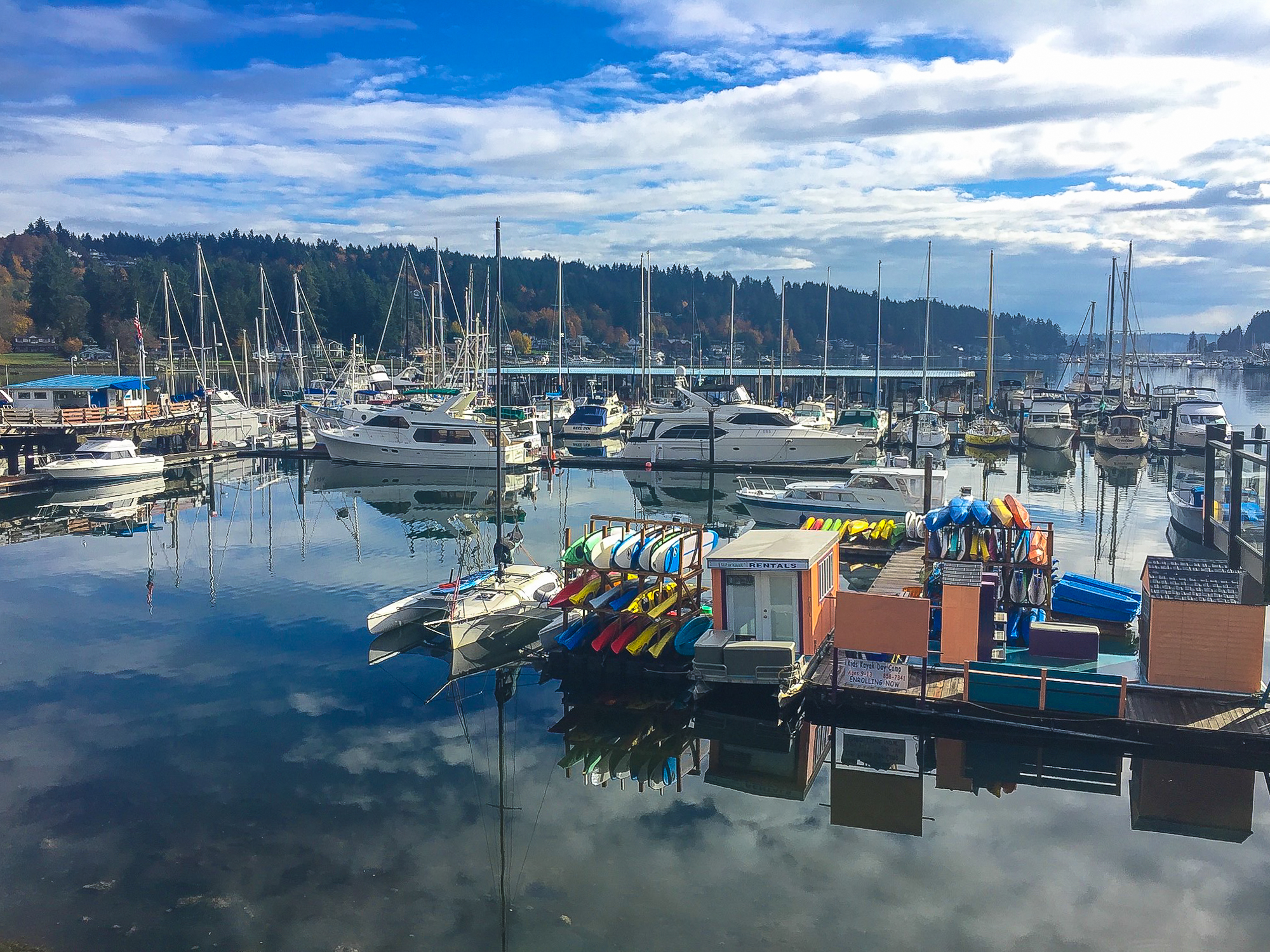For a getaway that's close to Seattle, head 45 miles southwest to the waterfront town of Gig Harbor. (Image:{ }Marissa Pederson / Seattle Refined)
