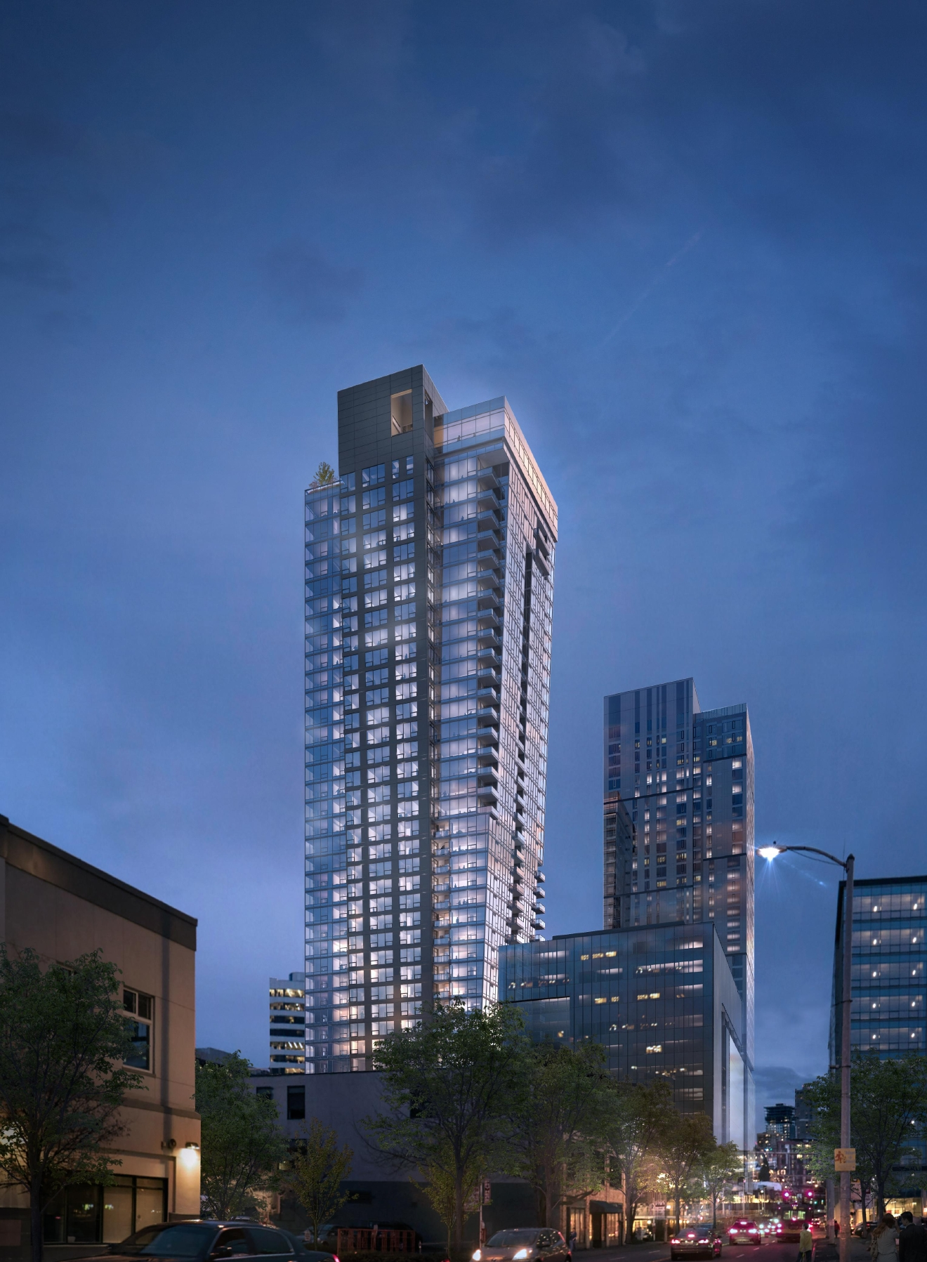 The latest addition to the Seattle high-rise scene is the Kinects, a 41-story tower (currently under construction) that is now offering the option for potential residents to  customize a penthouse. (Image credit: Studio 216)