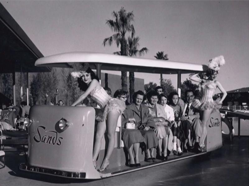 Sands Hotel Trolley (UNLV Special Collections)