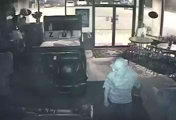 Charming Surveillance Photos Show Two Men That Burglarized A Metro Business July 2.  (Courtesy Mattresses