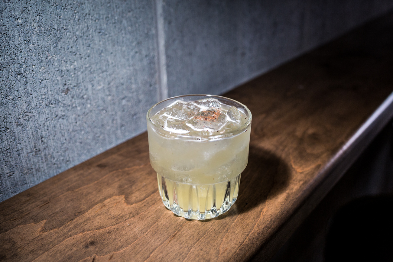 Curious George: Sotol Por Simper, tequila, house pineapple ginger tepatche, Giffards banana, and espresso cacao salt / Image: Catherine Viox{ }// Published: 4.7.19