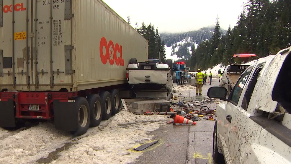 Semi driver arrested in deadly crash at Snoqualmie Pass