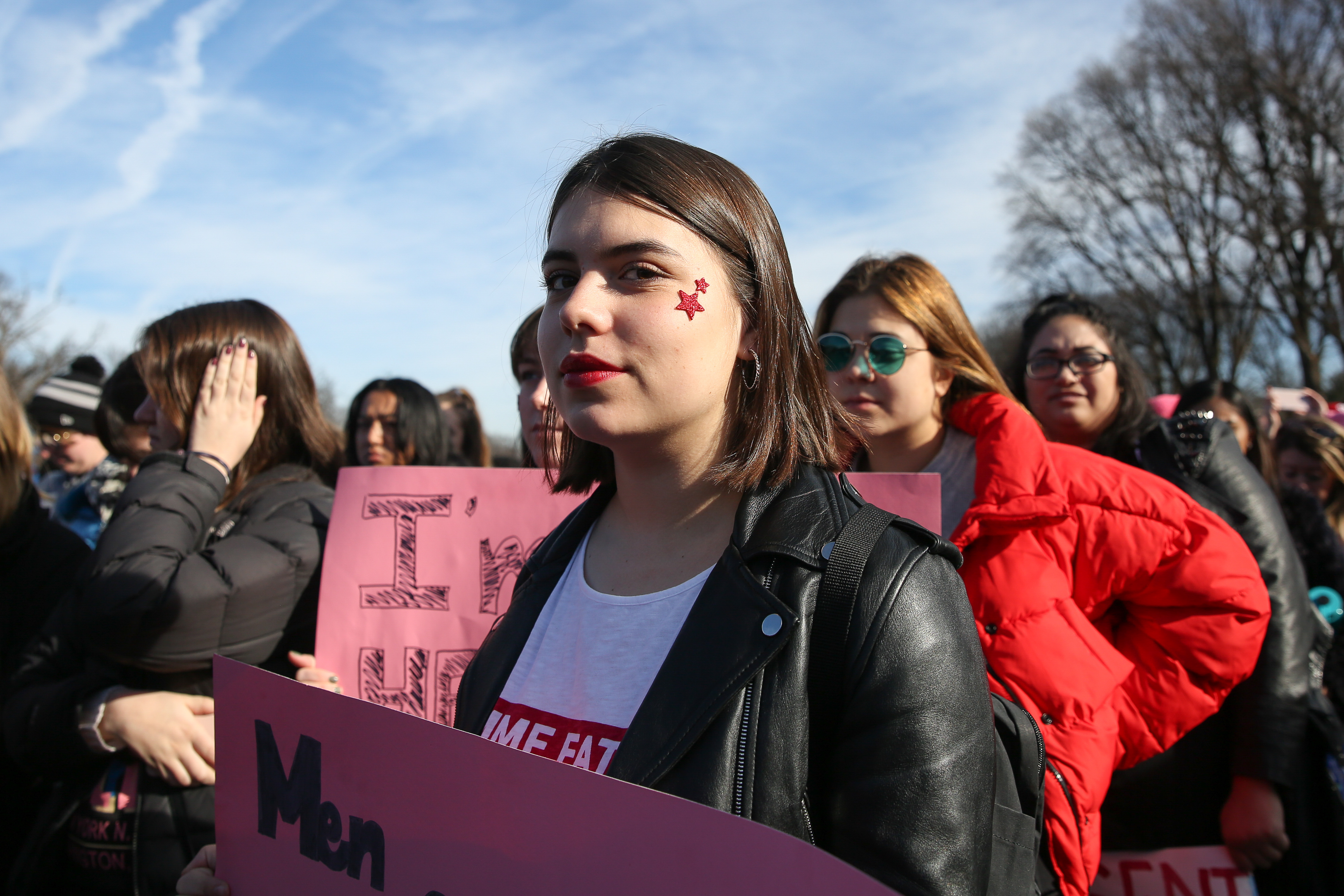 We also loved stars at this protestor's cheek at the Women's March! We saw a similar look at All Things Go this fall and we're glad to see it brought into new arenas.{&amp;nbsp;}(Amanda Andrade-Rhoades/DC Refined)<p></p>
