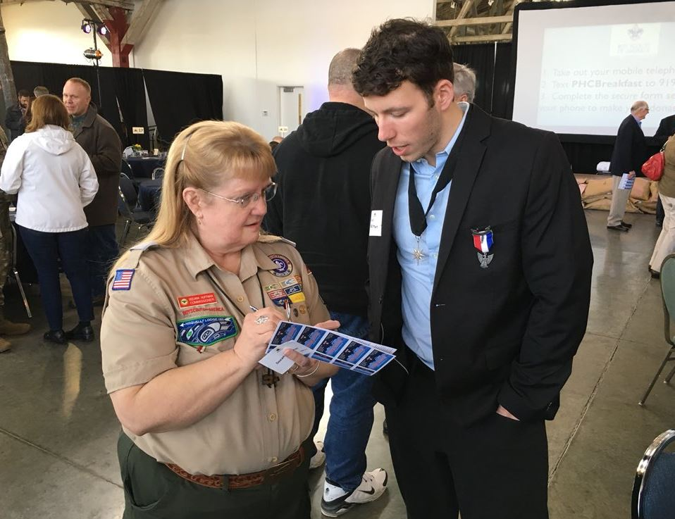 Dan Konzelman, an Eagle scout, was honored with the North Star Award on Wednesday, March 7, 2018, in Tacoma. (Photo: KOMO News)